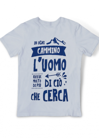 T-shirt In Ogni Cammino Grigia