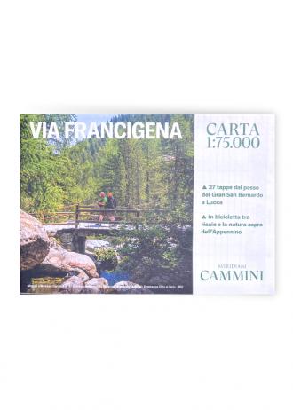 Cartina Via Francigena dalle Alpi a Lucca