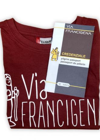 Credenziale + T-Shirt Ufficiale Via Francigena